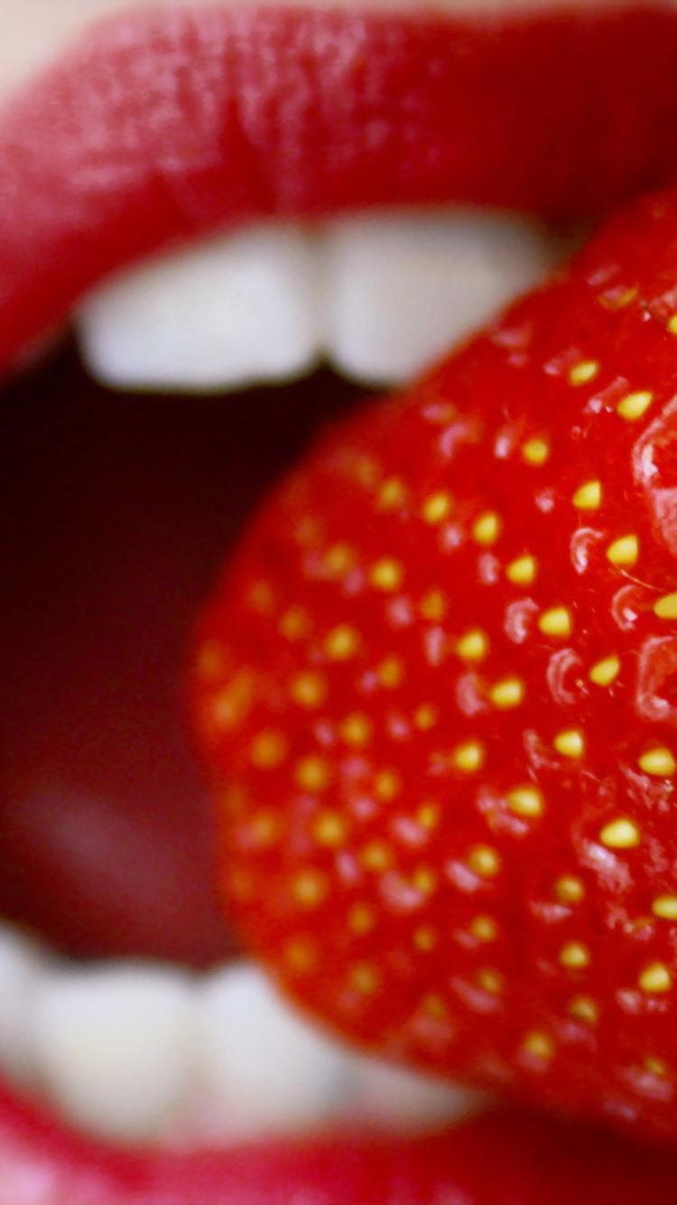 Screenshot №1 pro téma Tasty Strawberry 750x1334