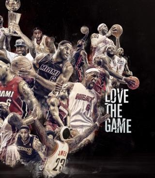 NBA, Basketball, Miami - Obrázkek zdarma pro iPhone 4S