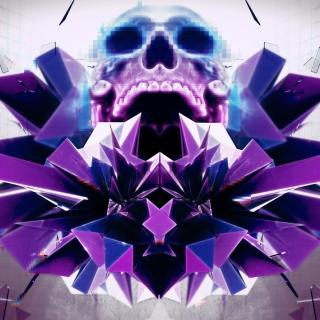 Abstract framed Skull - Obrázkek zdarma pro 2048x2048
