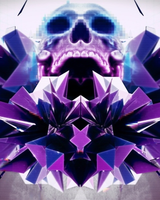 Abstract framed Skull - Obrázkek zdarma pro 240x432