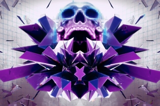 Abstract framed Skull Wallpaper for Nokia Asha 200