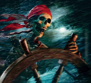 Sea Pirate Skull - Obrázkek zdarma pro iPad Air