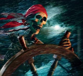 Sea Pirate Skull - Obrázkek zdarma pro 208x208