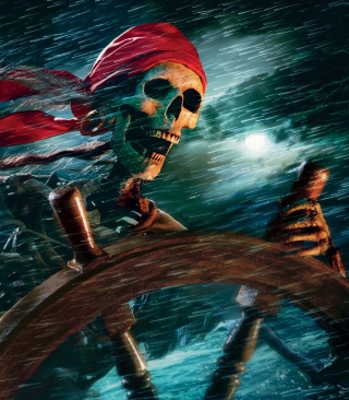 Sea Pirate Skull - Obrázkek zdarma pro 128x160