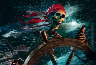 Sea Pirate Skull - Obrázkek zdarma pro Nokia Asha 200