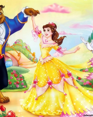 Beauty and the Beast Disney Cartoon - Obrázkek zdarma pro 240x432