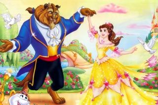 Beauty and the Beast Disney Cartoon - Obrázkek zdarma pro Fullscreen 1152x864