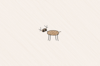 Funny Deer Drawing Background for Android, iPhone and iPad