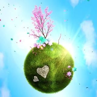 Green Planet Globe - Obrázkek zdarma pro 208x208