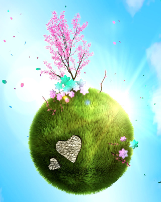 Green Planet Globe - Obrázkek zdarma pro Nokia 206 Asha