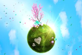 Green Planet Globe - Obrázkek zdarma pro 1024x768