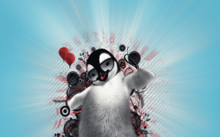 Dancing Penguin - Obrázkek zdarma pro Samsung Galaxy Q