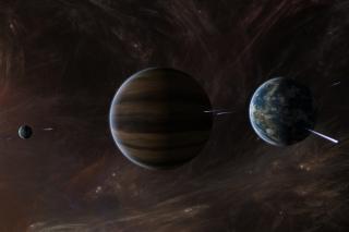 Orbit of Jupiter - Obrázkek zdarma pro 1024x768