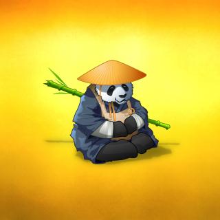 Funny Panda Illustration - Obrázkek zdarma pro iPad 3
