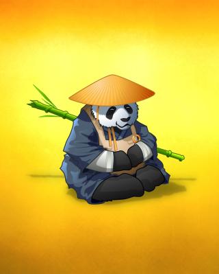 Funny Panda Illustration - Obrázkek zdarma pro Nokia Asha 305