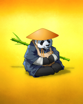 Funny Panda Illustration - Obrázkek zdarma pro 352x416