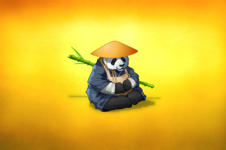 Funny Panda Illustration - Obrázkek zdarma pro 800x600