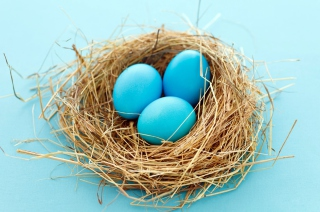 Free Blue Easter Eggs Picture for Android, iPhone and iPad