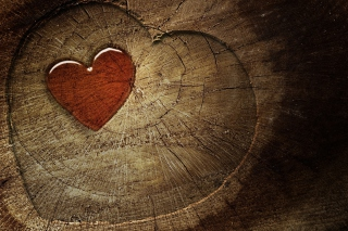 Wooden Heart Picture for Android, iPhone and iPad
