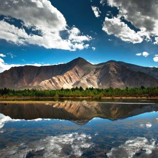 Beautiful Mountain Scenery HDR - Obrázkek zdarma pro iPad mini