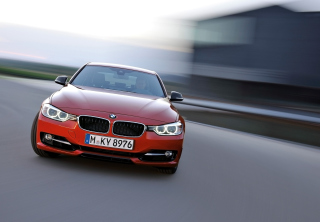 BMW 3 Series Sedan Sport Line Front Speed Background for Android, iPhone and iPad
