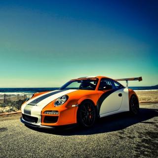 Orange Porsche 911 - Obrázkek zdarma pro 128x128
