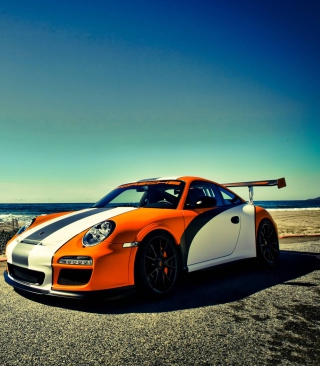Orange Porsche 911 - Obrázkek zdarma pro 360x400