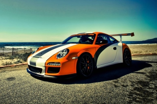 Orange Porsche 911 Wallpaper for Android, iPhone and iPad