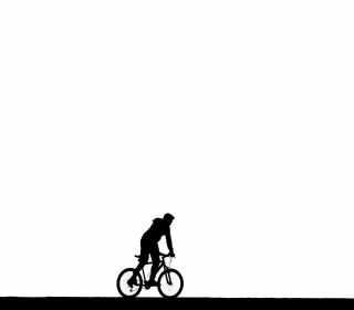 Bicycle Silhouette - Obrázkek zdarma pro iPad 2
