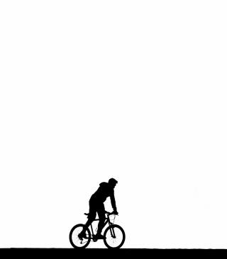 Bicycle Silhouette - Obrázkek zdarma pro 352x416