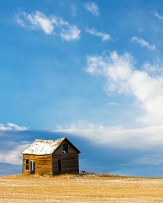 Left House Under Blue Sky - Obrázkek zdarma pro iPhone 3G