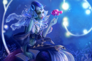 Mermaid And Fish Background for Android, iPhone and iPad