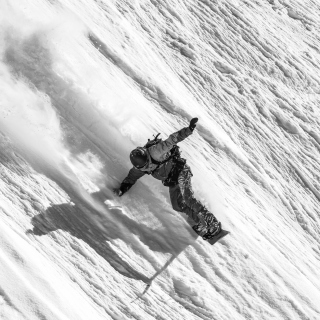 Snowboarder in Andorra - Obrázkek zdarma pro 320x320