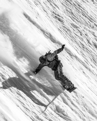 Snowboarder in Andorra - Obrázkek zdarma pro 360x400