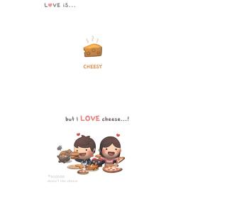 Love Is Cheesy - Obrázkek zdarma pro iPad 3