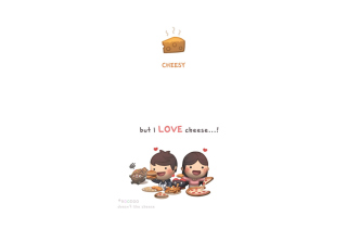Love Is Cheesy Picture for Android, iPhone and iPad