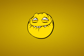 Free Yellow Trollface Smile Picture for Android, iPhone and iPad