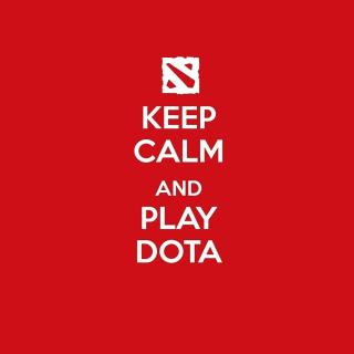 Keep Calm and Play Dota - Obrázkek zdarma pro 2048x2048