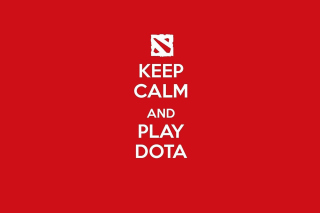 Keep Calm and Play Dota - Obrázkek zdarma pro Widescreen Desktop PC 1280x800
