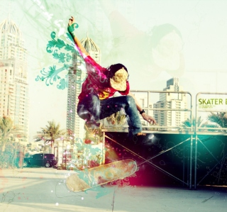 Skater Boy - Obrázkek zdarma pro 1024x1024