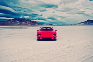 Free Red Ferrari F40 Front Static Picture for Android, iPhone and iPad