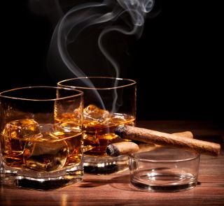Whisky & Cigar - Obrázkek zdarma pro iPad 3