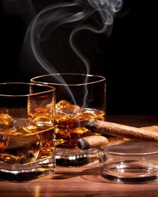 Whisky & Cigar - Obrázkek zdarma pro Nokia Asha 306