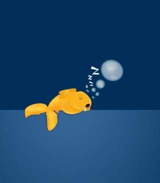 Sleepy Goldfish - Obrázkek zdarma pro 640x1136