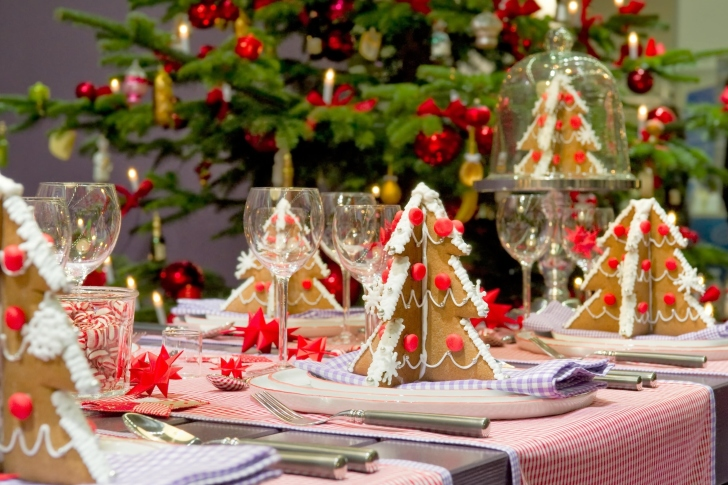 Christmas Table Decorations Ideas wallpaper
