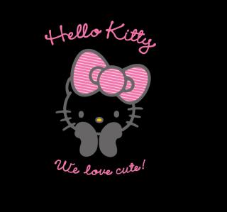 Black Hello Kitty - Obrázkek zdarma pro iPad 2