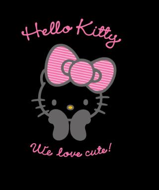 Black Hello Kitty - Obrázkek zdarma pro Nokia Asha 305