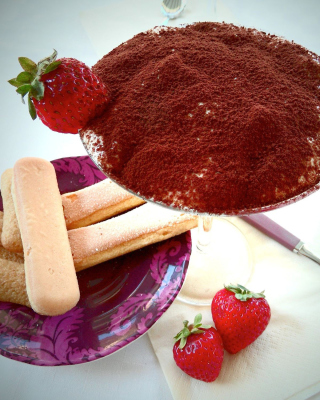 Tiramisu with strawberries - Fondos de pantalla gratis para LG T325 Cookie