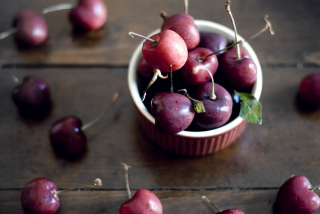 Cherry Plate Wallpaper for Android, iPhone and iPad