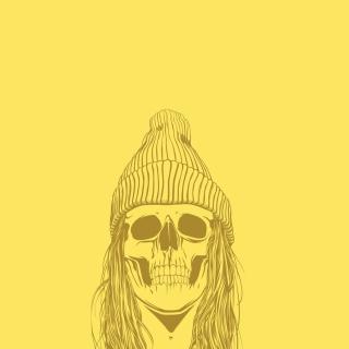 Skull In Hat - Obrázkek zdarma pro 128x128